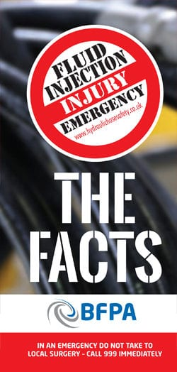 Fluid injection injury emergency  The Facts (booklet)