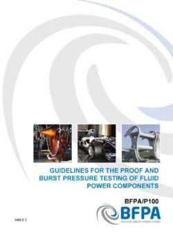 Guidelines for the proof and burst pressure testing of fluid power components