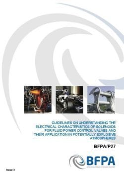 Guidelines on understanding the electrical characteristics of solenoids for fluid power control valves and their application in potentially explosive atmospheres