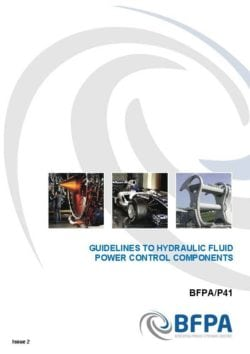 Guidelines to hydraulic fluid power control components